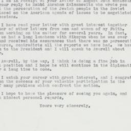 Letter : 1963 August 31