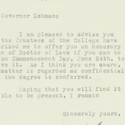 Letter : 1929 May 13