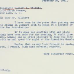 Letter : 1941 December 20