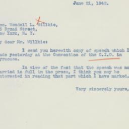 Letter : 1942 June 21