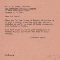 Letter : 1945 February 2