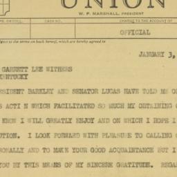 Telegram : 1950 January 3