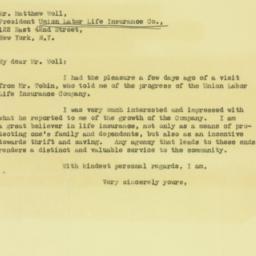 Letter : 1931 January 29