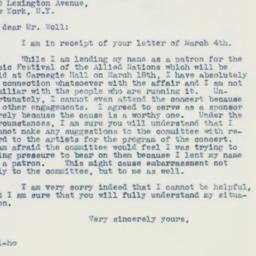 Letter : 1942 March 5
