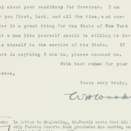 Letter : 1932 October 10