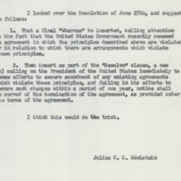 Memorandum : 1957 May 28