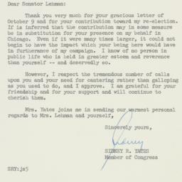 Letter : 1958 October 14
