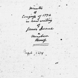 Document, 1774 September 05