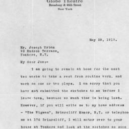 1 letter, 29 May 1919