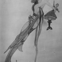 mermaid holding doll
