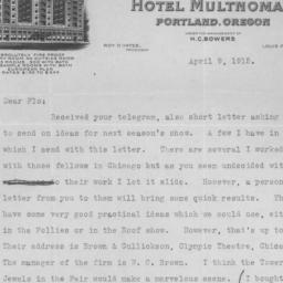 1 letter, 9 April 1915, p. 1
