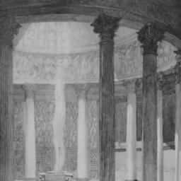 photo of set drawing, Act I...
