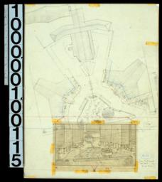 Site plan with perspective