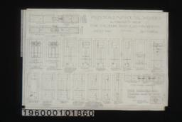 Inch scale and F.S. details of doors :Sheet no 10\,