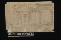 Details of porch -- half elevation\, half section\, section\, elevation and section of flower box : Sheet no. 9.