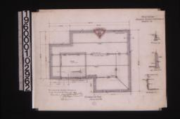Foundation plan with sections :1\,