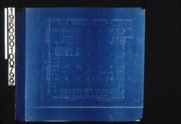 Third floor plan showing fixtures :Sheet 03.
