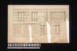 First floor interior details -- west\, south\, north\, and east elevations of library; east side of garden room :Sheet no. 7.