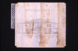 West elevation ; end elevation of porte cochere :Sheet no. 7.