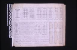 Door details -- elevations and full size sections :Sheet number seven,