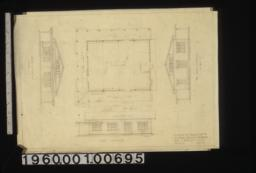 South elevation, plan, east elevation, north elevation : Sheet no. 1.