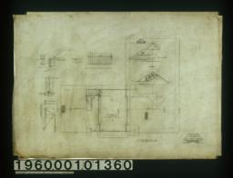 Attic and roof plan; detail drawings of billiard room and roof :Sheet no. 4.