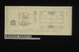 1/8 inch scale detail of store house\, chicken house and corral in plans\, elevations and section :Sheet no. 6A\,