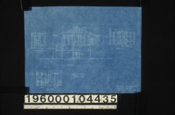 East elevation; interior elevations -- view of north side of entry\, south and west sides of bathroom\, laundry cases :Sheet no. 6. (2)