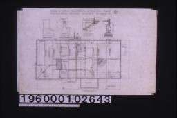 Foundation plan; details -- chimney footing\, footing for girder posts\, section at A-B\, section thro' wall : 1.