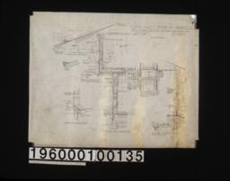 """1 1/2"""" scale details -- section thro' gable vents\, section A-A of verge board\, typical wall sections\, section of beam showing bracket at ends\, section thro' dining room wing showing plates built up to equalize shrinkage\, sections of sleeping porch construction :sheet no. 7\,"""
