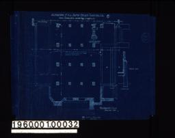Foundation plan of vestibule end of church ; two sections through foundation : No.1.
