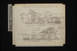 Front elevation with section through wall; east elevation :No. 4.