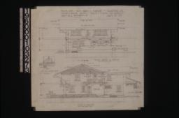 Front (north) elevation; west elevation with section at A-B and section at B :Sheet no. 4\,