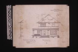 Front elevation with section through wall :4\,