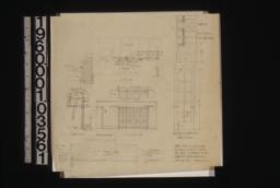 """Doors added in living room -- beam detail (see revised detail)\, section\, elevation\, elevation outside\, plan\, 3/4"""" detail of doors (two of these)\, full size details :Sheet no. 5."""