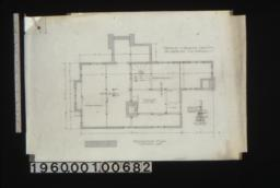 Foundation plan with wall section.