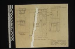 Details of pantry sink -- plan\, elevation\, F.S. section A-A\, F.S. section B-B :Sheet no. 14.