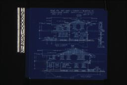 South elevation; east elevation; details of screened porch :Sheet no. 5\,