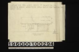 Garage -- north elevation, section thro. lathhouse footing :Sheet no. 2.