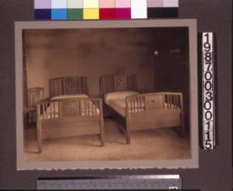 Master bedroom beds.