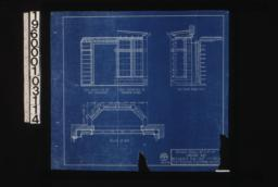Details of library bay -- half elevation of bay entrance\, half elevation of interior of bay\, plan of bay\, section thro' bay : 9\,