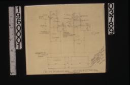 Revised detail of walls of garage\, section of cottage wall :Sheet no.12\,
