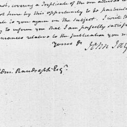 Document, 1795 February 06
