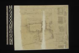 Landscape plan; lattice fence details :Sheet [no.] 18.