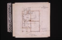 Plan of first floor : 1\,