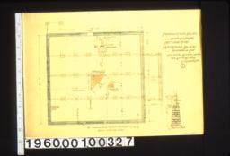 "Foundation plan\, 1/2"" section A-A : 1."