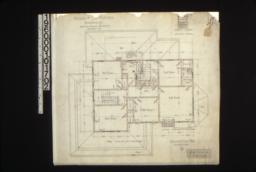 Second floor plan; elevation of door & window in bathroom :3.