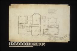 Second flor plan\, elevation of bay in bedroom #1\, plan of bay :2.