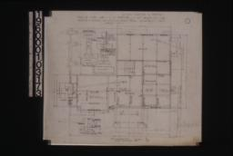 Foundation plan; detail of pier footings\, section thro' wall footings\, section thro' chimney at A-A :Sheet no. 1. (2)