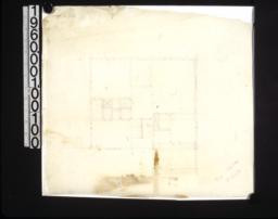 Rough preliminary sketch of 2nd floor plan /